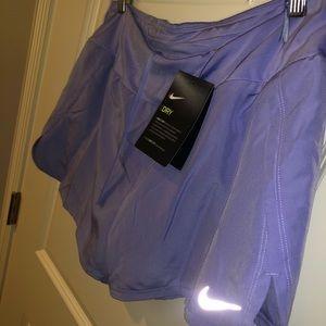 Women's L Nike running shorts, periwinkle purple